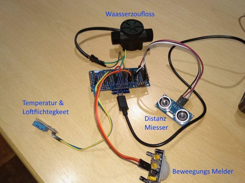D1 Mini mat 4 Sensoren