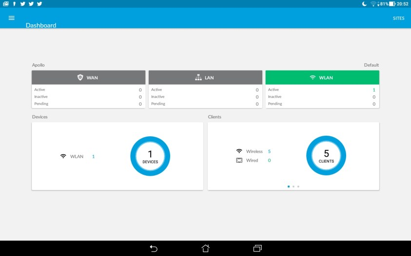 Mobile App - Dashboard View