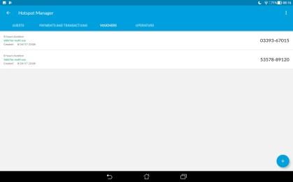 Mobile App - Manage Vouchers