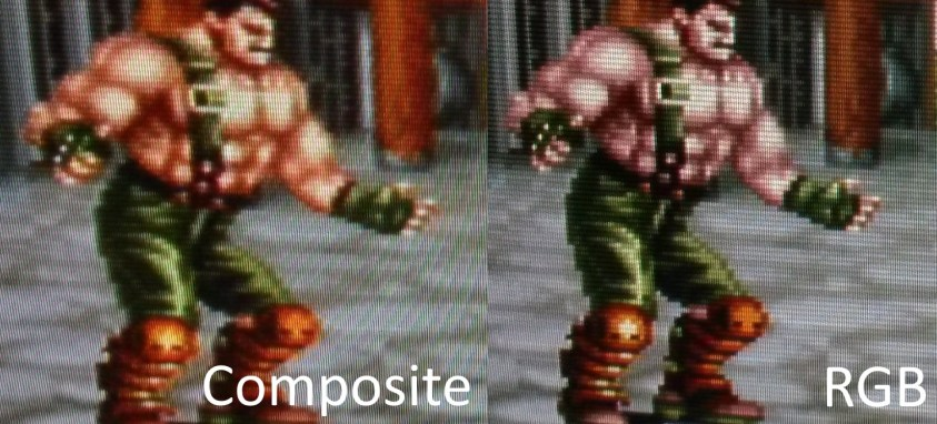 Final Fight 2 - Haggar Closeup Side by Side Comparison