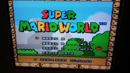 Super Mario World - Title Screen - Composite
