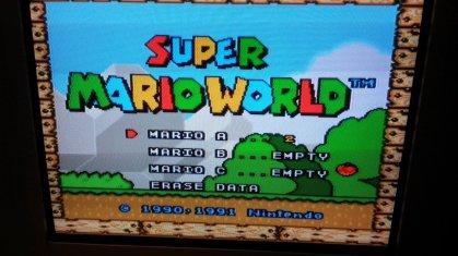 Super Mario World - Title Screen - Composite