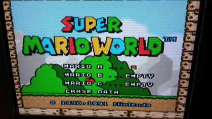 Super Mario World - Title Screen - RGB