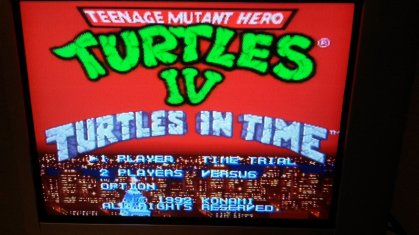 TMNT IV - Turtles in Time - Title Screen - Composite