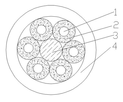 High flexible optical fiber festoon cable diagram