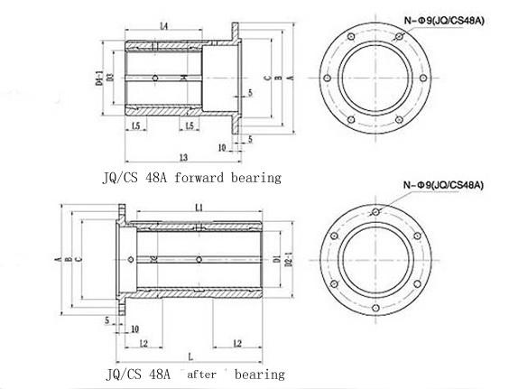 JQ/CS 48 Type Stern Tube Bearing Supplier, China Marine