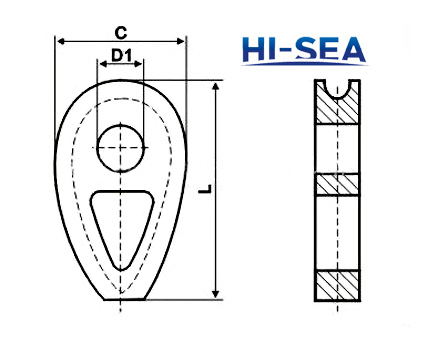 DIN 3091 Wire Rope Thimble Supplier, China Wire Rope