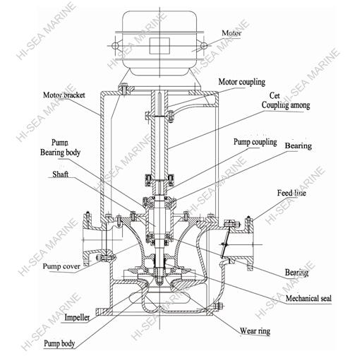 CLZ Marine Vertical Self-priming Centrifugal Pump Supplier