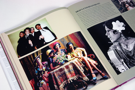 "page from the book, ""70s Style & Design"" showing a number of black performers including Boney M and Diana Ross"