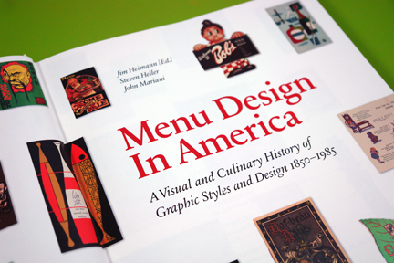 "front page from ""Menu Design in America"""