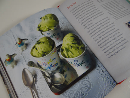 "avocado ice cream from ""My Vietnamese Kitchen"" cookery book"