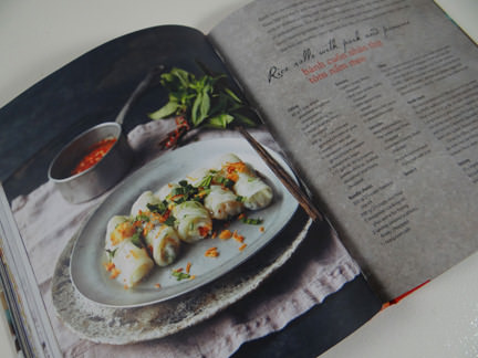 "rice roll recipe in ""My Vietnamese Kitchen"" cookery book"