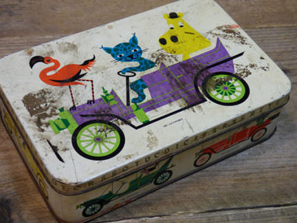 vintage Carr biscuit tin being sold on eBay for Charity by & in support of Isabel Hospice