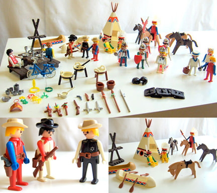 vintage Playmobil figures for sale on eBay for Charity in support of Action 21