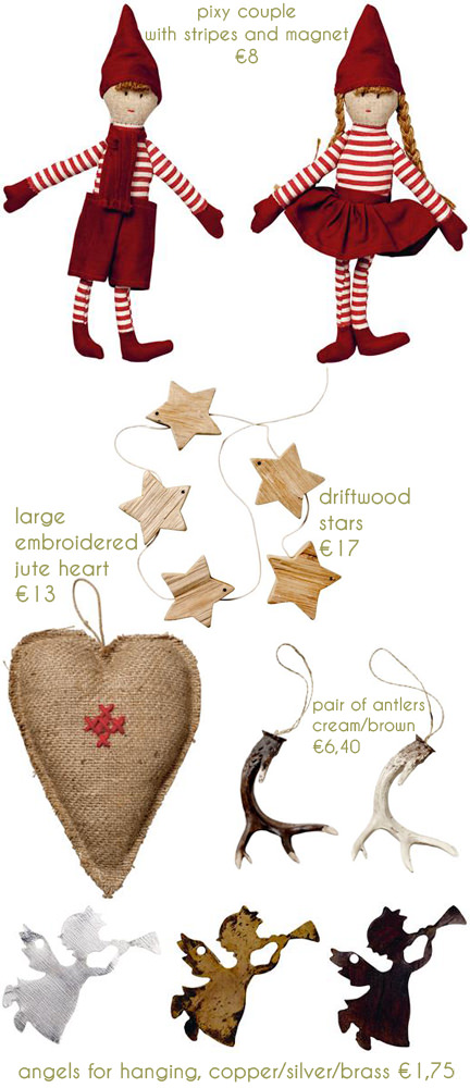 selection of festive Christmas items available from Bloomingville
