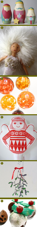 selection of festive handmade items on the Folksy website
