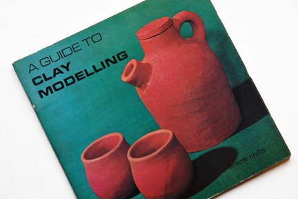 cover of a vintage craft booklet on how to make clay items