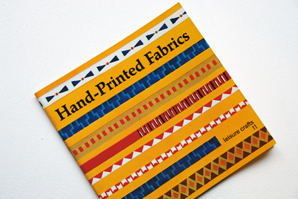 cover of a vintage craft booklet showing how to use fabrics