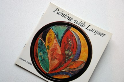 cover of a vintage craft booklet 'How to paint with Lacquer