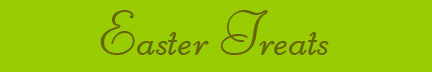 """Easter Treats"" blog post banner"