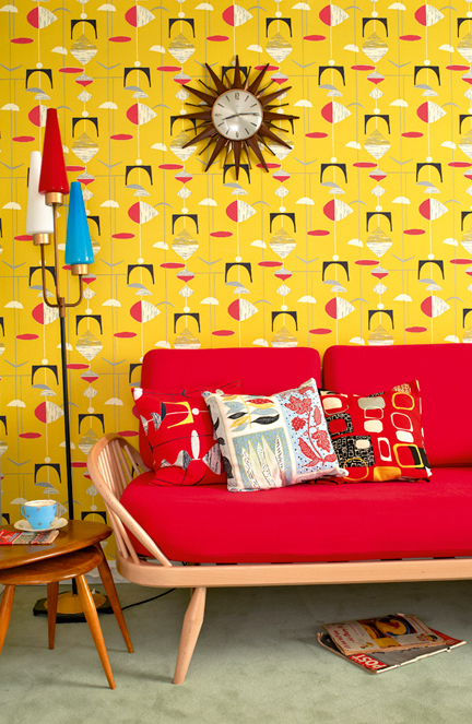 "room set styled by Kiera Buckley-Jones from the at the ""Museum of 51"" exhibition curated by the Hemingways at the Royal Festival Hall, Southbank, London"