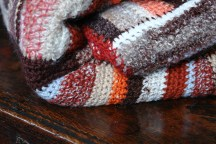 hand crocheted striped throw