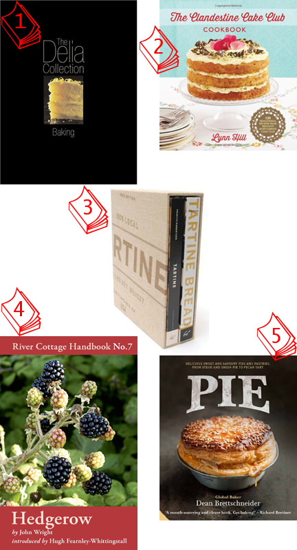 Selection of 5 cookbooks