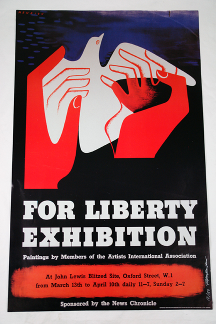 FHK Henrion 'For Liberty' exhibition poster from a collection bought at auction by H is for Home