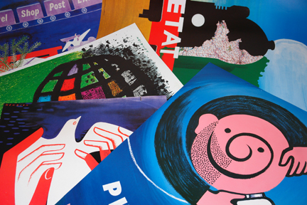 collection of FHK Henrion posters bought at auction by H is for Home