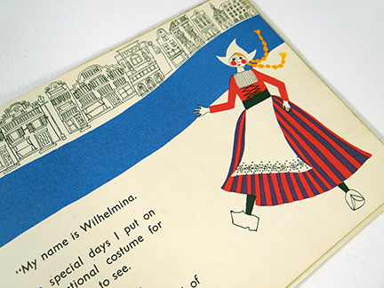 page from vintage children's book, 'Holland' from the World Dolls Series