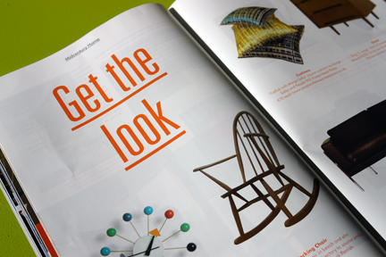 image of the 'Get the Look' feature in the 1st edition of Midcentury Magazine