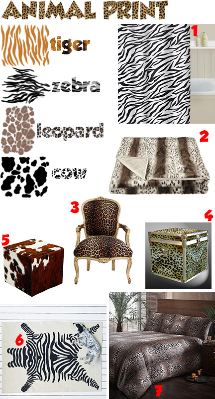 'Animal print' mood board
