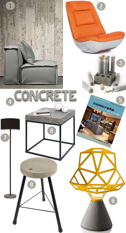 'Concrete' mood board