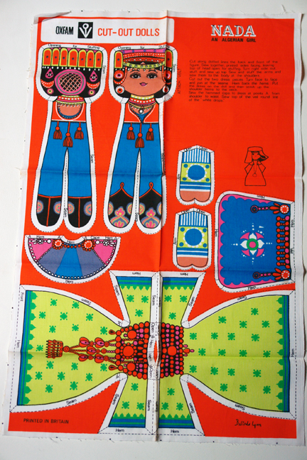 "vintage cloth pattern designed by Belinda Lyons of a doll called ""Nada"", an Algerian girl"