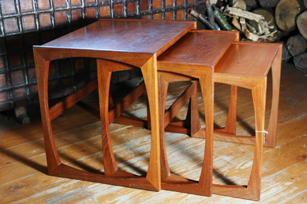 G Plan nest of teak tables