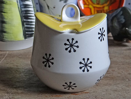 Vintage Hornsea Pottery 'Tricorn' preserve pot | H is for Home
