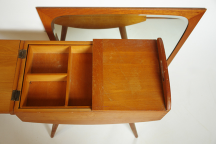 vintage beechwood sewing box
