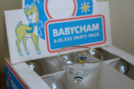 vintage Babysham party pack in original packaging