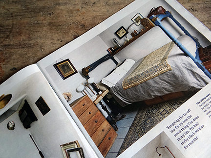 bedroom in an interior decoration article in the Telegraph Magazine