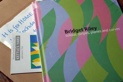 Bridget Riley exhibition catalogue just taken out of its packaging