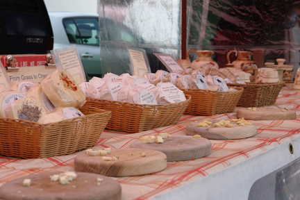 Pextenement Cheese stall at the Todmorden Show