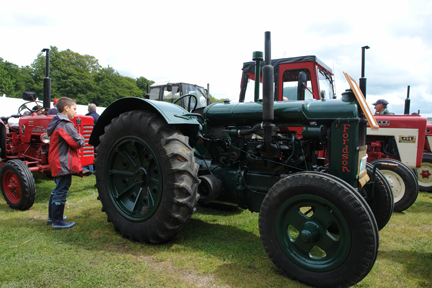 vintage tractor on display at the Todmorden Agricultural show