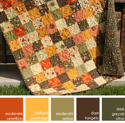 autumn quilt made by SunnysideDesigns for sale on Etsy
