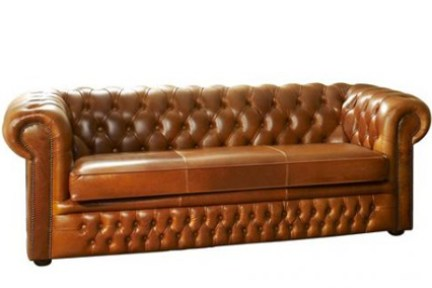 Heaton Leather Chesterfield sofa from the Chesterfield Company, Manchester