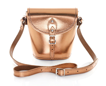 copper coloured Zatchels Barrel bag