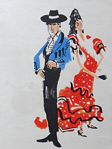 Juan & Carmen in their Flamenco dress