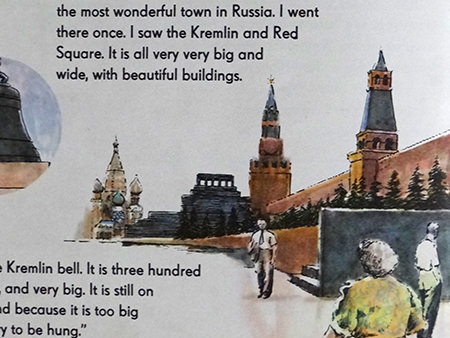 illustration of the Kremlin and Red Square from the World Dolls Series - Russia