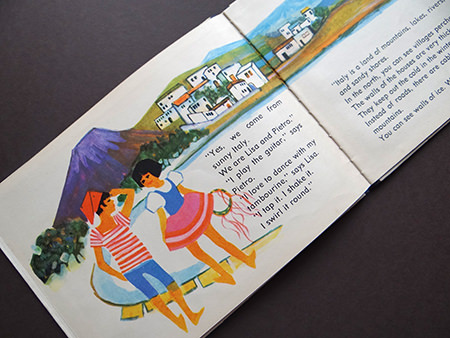 Lisa and Pietro dolls in 'Italy' the vintage World Dolls series of books