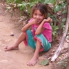 Rossina at the age of 5 was the inspiration for our Christmas Shoes Project