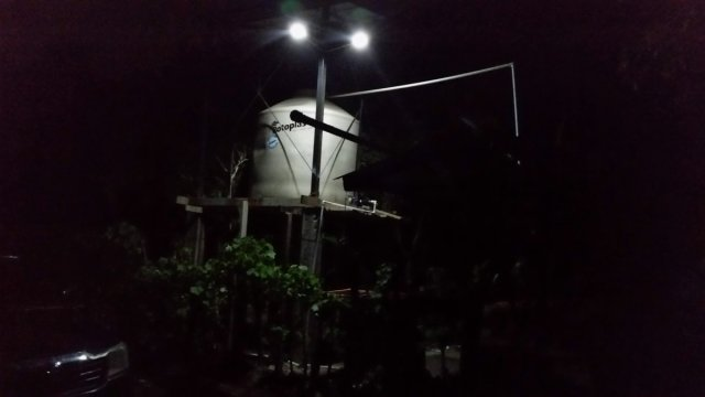 We also installed 3 solar powered security lights.